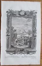 Scheuchzer: Physica Sacra Healing Lunatic Folio Decorative Border - 1731