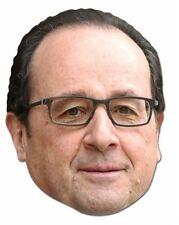 François Hollande Français politicien 2D CARTE unique Fête Masque visage