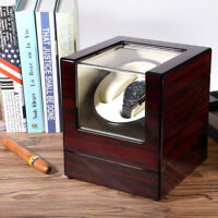Automatic Rotation Dual Watch Winder Wood Display Box Case Storage Japan Motor