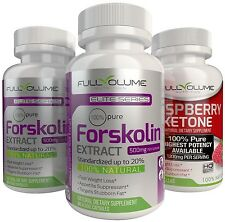RASPBERRY KETONE + 2X FORSKOLIN - Best Diet Pills Weight Loss Fat Burner