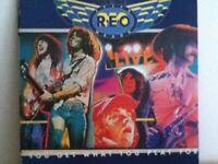 R E O   SPEEDWAGON        LP    LIVE, YOU GET WHAT YOU PLAY FOR