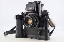 Canon F-1 35mm SLR Camera With Servo EE Finder Motor Drive MF 50mm f/1.8 SC Lens