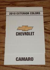 2010 Chevrolet Camaro Exterior Interior Colors Foldout Sales Brochure 10 Chevy
