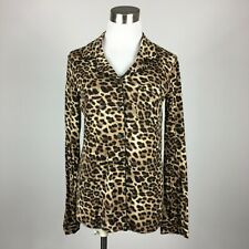 Gilligan & OMalley XS Pajama Top Animal Print Button Up Chest Pocket