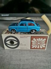 MEBETOYS FIAT 850 BERLINA A1 SCALE 1:43 PRIMA SERIE BOX BIANCO VERY RARE