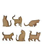 20x Assorted Cat Shapes Cats 3cm Wood Craft Embelishments Laser Cut Shape MDF