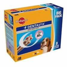 Pedigree DentaStix Dog Chews Adult Dental Treat 56 ( Medium Dog ) NEW BOXED