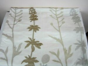 """Crate & Barrel Woodland King Duvet Cover Embroidered 106"""" x 96"""" Modern Chic New"""