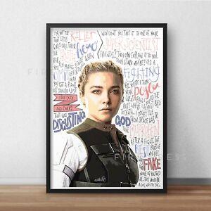 Yelena Belova Poster / Print / Wall Art A5 A4 A3 / Black Widow / Florence Pugh