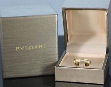 $4,950 Bvlgari 18K Yellow Gold Bulgari B.Zero1 Diamond Wedding Band Ring Sz 4.5