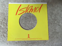 sleeve only ISLAND RED  YELLOW   45 record company sleeve