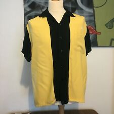 Style eyes 1950s repro bowling shirt. Large. Sugarcane. Rickson. Buzz.rockabilly