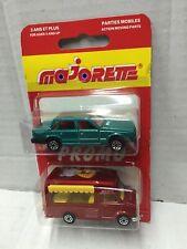 Majorette Promo 2-Pack 1:67 ICE CREAM FOURGON + 1:61 VOLVO 760 GLE MOC