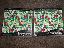 Vintage DuPont Flair Squares WallPaper Strawberries Berry Patch 2 Pack Of 15 Sq
