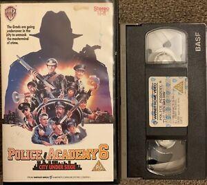 POLICE ACADEMY 6 CITY UNDER SIEGE-VHS VIDEO BIG BOX/EX RENTAL/WARNER HOME VIDEO.