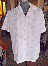 Vintage 1960's Woman'S Blouse Shirt Cotton W Pockets California By George L / X