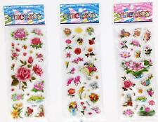 wholesale Stickers Lot Cartoon Paper Crafts Small flowers Children Gift  3D Pvc