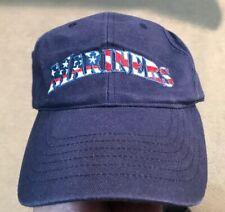 Seattle Mariners Blue Embroidered Adjustable Trucker Baseball Cap Hat Patriotic