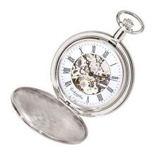 Analoge Taschenuhren aus Edelstahl in Silber
