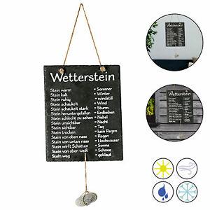 Schiefertafel Wetterstation Stein Wetterstein Tafel Wetterschild Garten Deko