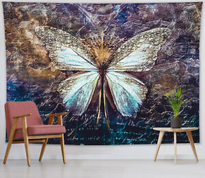Bohemian Butterfly Tapestry Psychedelic Wall Hanging For Living Room Bedroom