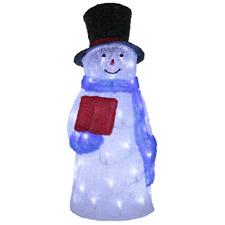 LED acrilico PUPAZZO DI NEVE 58 cm illuminazione Snowmen COLORATO 60