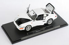 Blitz envío Porsche 911 964 turbo carrera Weiss Welly modelo auto 1:18 nuevo embalaje original