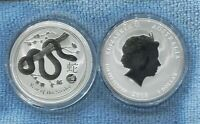 2013 $1 1oz Silver Year of the Snake ex Perth Mint Australia