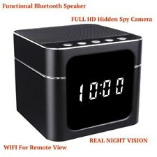 1080p WIFI Bluetooth Speaker Security Hidden Nanny Spy Night Vision Camera