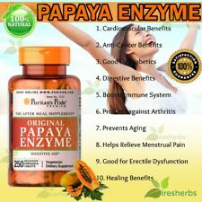 Papaya Enzyme Protease Amylase Digestive Aid Energy Chewable Supplement 250 Tabs