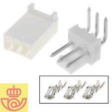 (lot 5pcs) molex 3 pin connector 90 º 2,54mm tht m + H (Arduino, pcb, prototype)