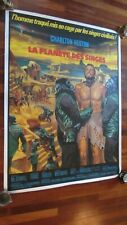 """Planet Of The Apes - (1968) Original French Grande Poster 47"""" x 63"""" Linen-backed"""