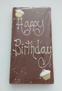 "Large Milk chocolate ""Happy Birthday"" slab"