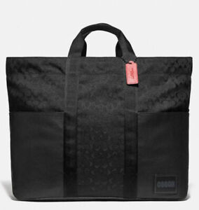 Coach Men's CORDURA Reversible Pacer Tote Bag Weekender Duffle (NWT)