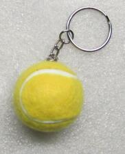 1.25 Inch Yellow TENNIS BALL Plush KEY CHAIN Ring Keychain NEW