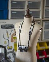 Mr. Zhou Fur Leather Camera Neck Strap Comfort Padded 4 Leica Canon Nikon DSLR
