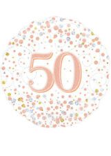 Rose Gold 50th Birthday Helium Party Balloon