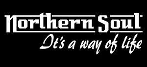 White Northern Soul Sticker Fits Vespa PX T5 LML Scooter Toolbox / Sidepanel KTF