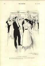 1895 Peluquería broma Rene Bull una aceptación prudente para la cena de dibujos animados
