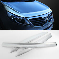 Chrome Bonnet Hood Guard Garnish Molding Trim  For KIA 2011 - 2016 Sportage R