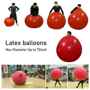 72 Inch Latex Giant Human Egg Balloon Round Climb in Balloon for Funny Party