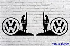 "Volkswagen VW Extra Large 20"" SURF Stickers X2 Transporter T6 T5 T4 Campervan"