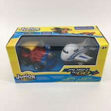 Junior Racers - Push 'N Go Powered - Train Engine & Airplane 2 Pk. NIB