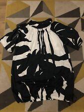 Marimekko Vestido Túnica Negro y Blanco de colección de tamaño mediano