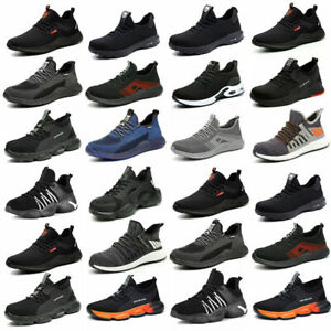 Lightweight Safety Trainers Mens Women Steel Toe cap Work Shoes Hiking boots UK