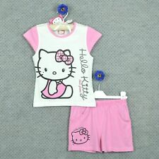 ¤ HELLO KITTY ¤ Ensemble fille été rose ==> T- shirt & Short ~ 6 ANS ~ NEUF