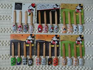 DISNEY set of 4 Mini Mickey & Minnie Silicone Spatula Sets YOU CHOOSE seasons