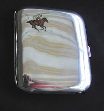 Alte Zigaretten Silberdose 900 Email um 1900 silver case box