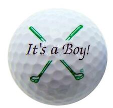 Its a Boy Novelty Golf Ball Perfect Fun Golfing Gift for Golfer New Baby Daddy