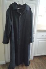 Mens HANA K Navy Blue 100% Casmere Long Coat Size XL